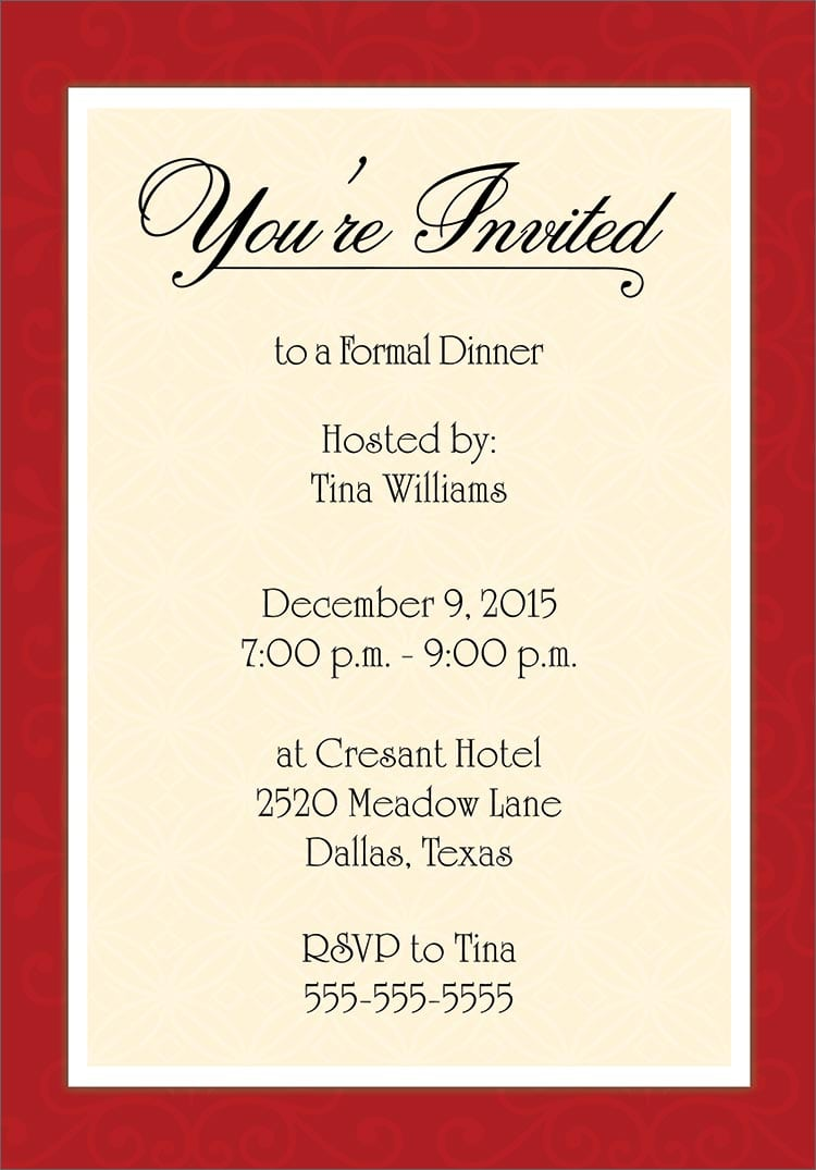Sample Invitation Letter Holiday Party  Create Professional Resumes