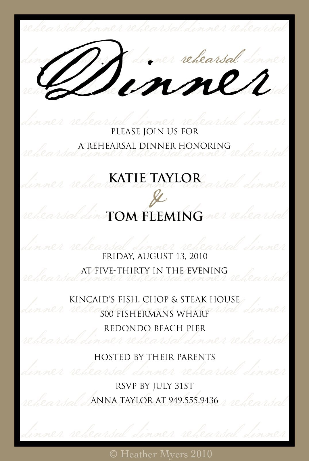 Dinner Party Invitation Templates Free printable concert ticket – Dinner Invitation Template Free