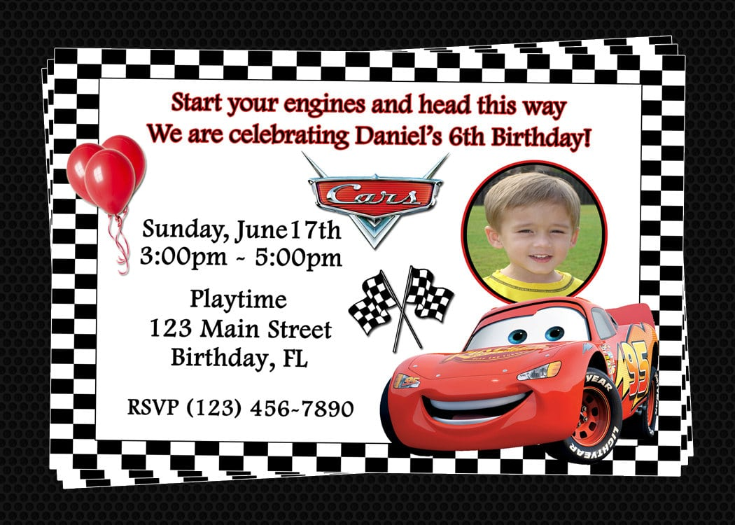 free printable cars invitations ha fabulous lightning mcqueen ...