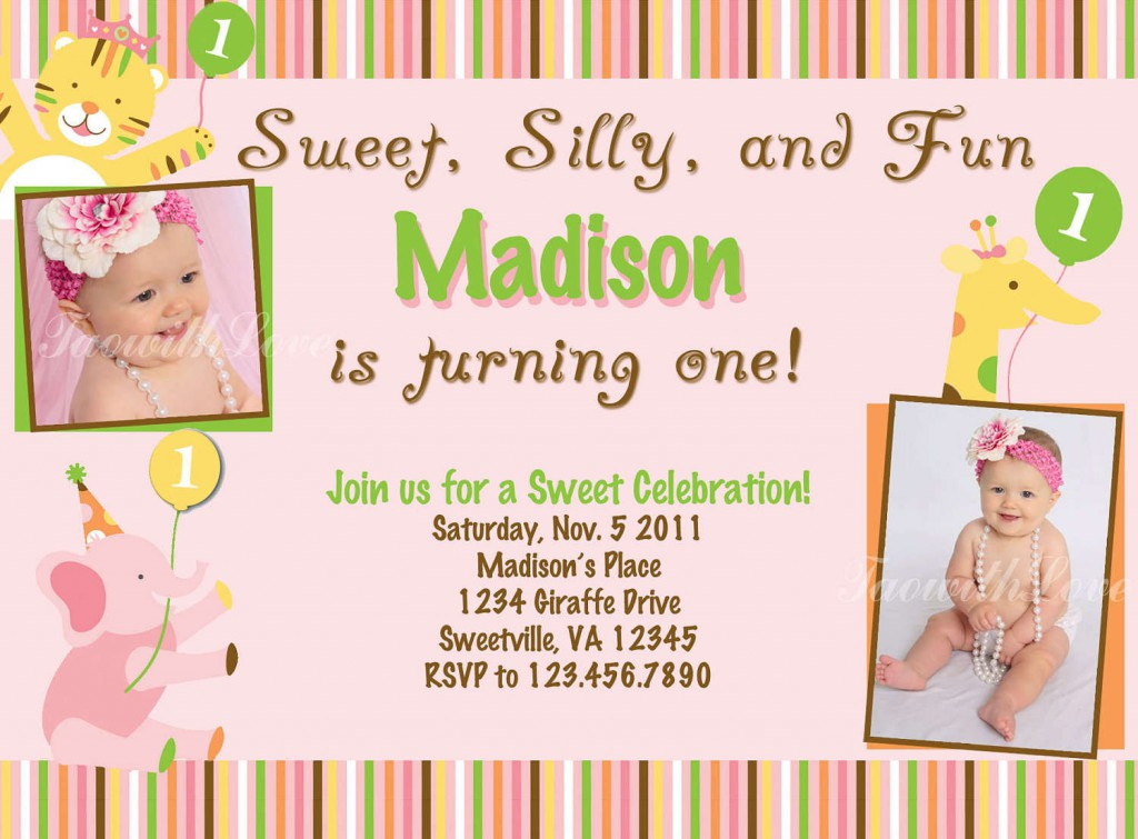 Doc#15001071 Free 1st Birthday Invitations Templates u2013 birthday - free first birthday invitation template