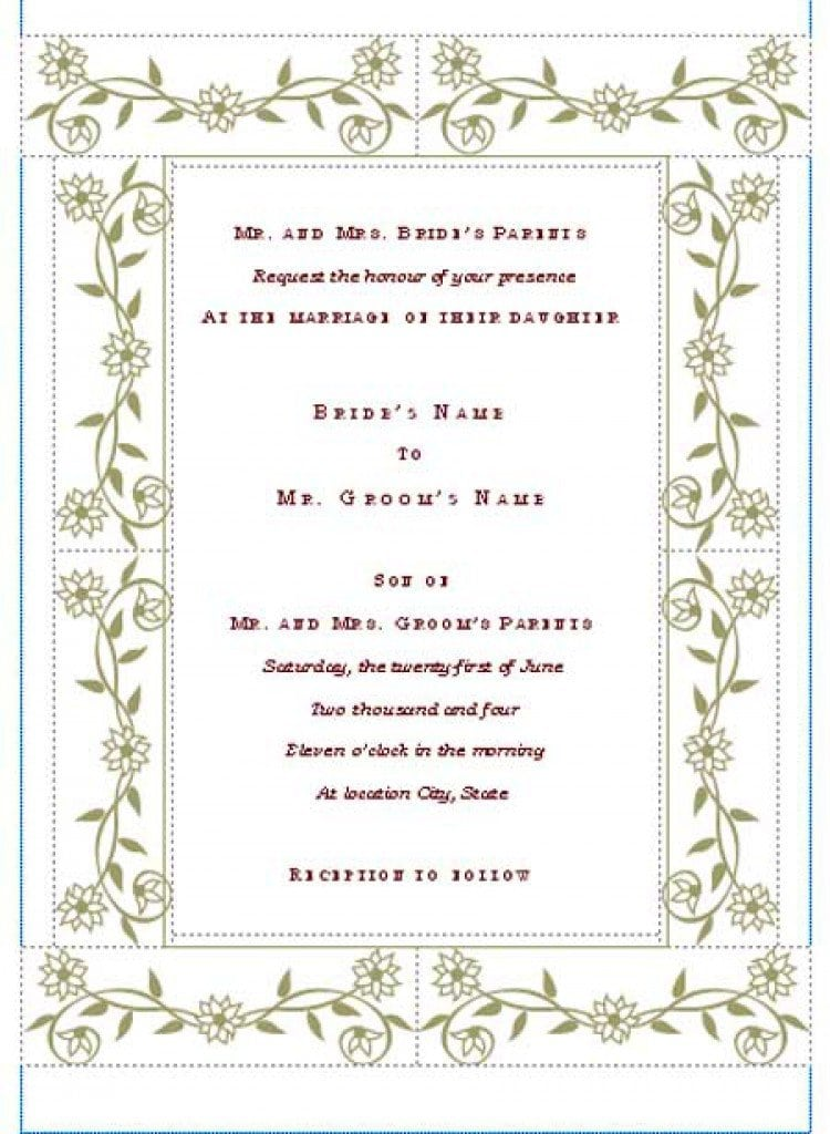 blank formal invitation templates - Onwebioinnovate - Formal Invitation
