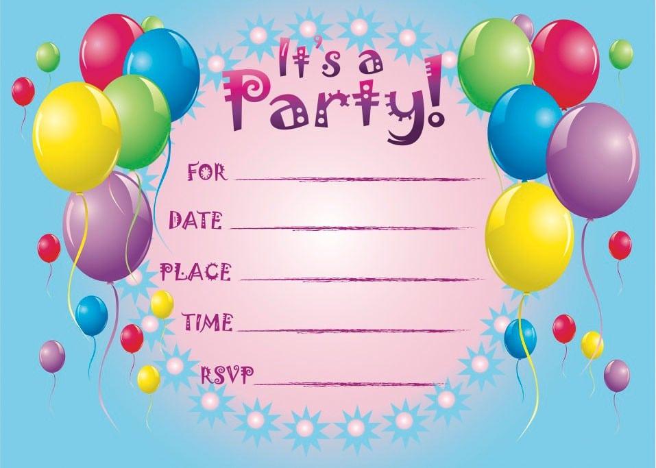Free 1st Birthday Invitation Templates Printable