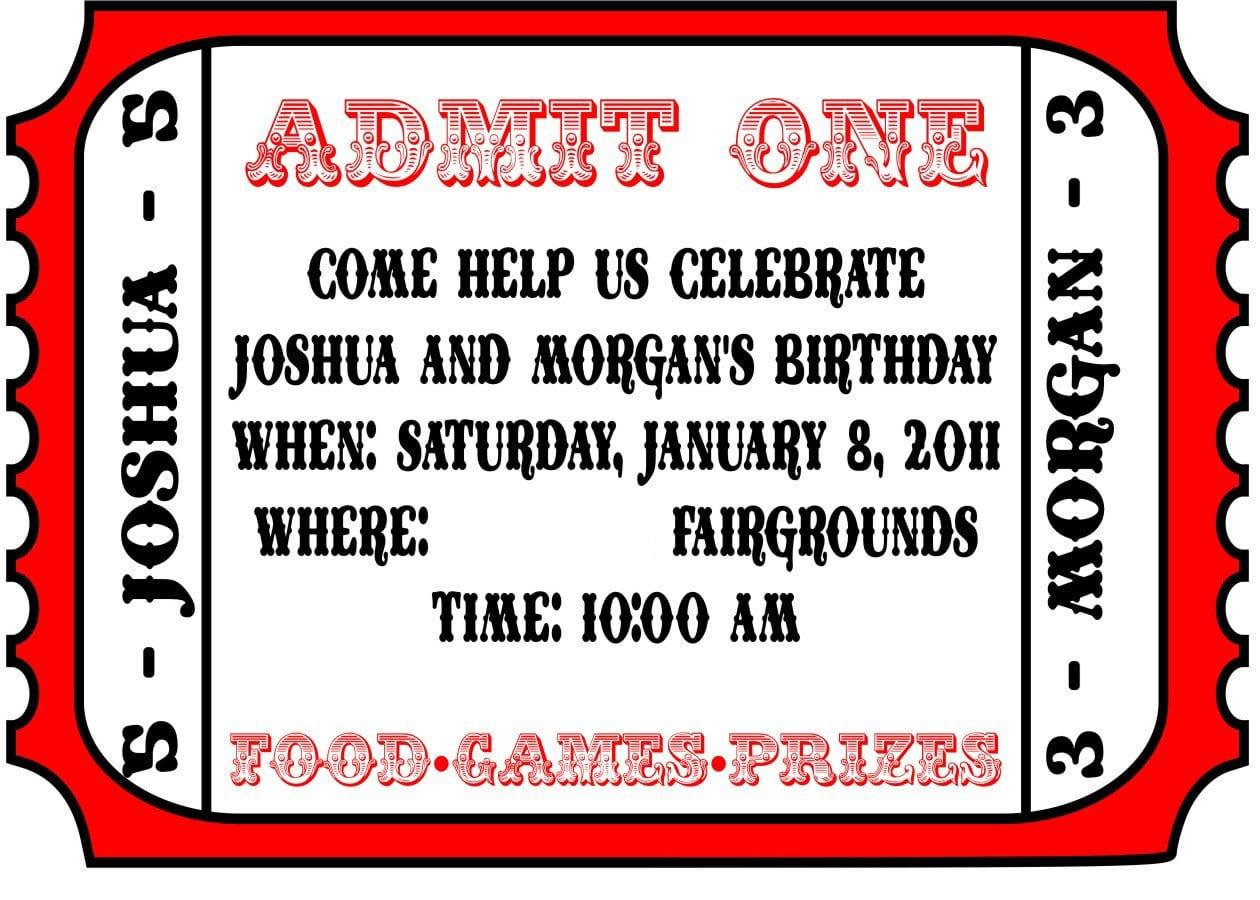 Free Printable Carnival Invitations