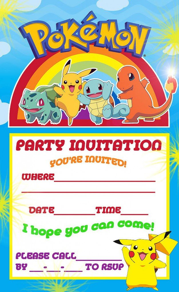Pokemon Invitaciones para Imprimir Gratis invitation card - birthday coupon templates free printable