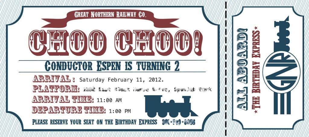 Train Ticket Invitation Template Free \u2013 orderecigsjuiceinfo - free printable ticket invitations