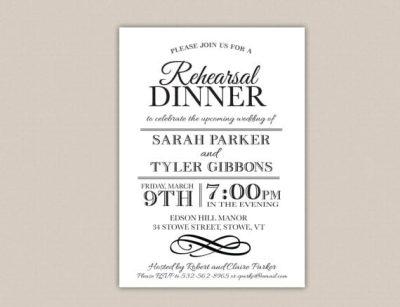 Elegant Setting - Free Printable Rehearsal Dinner Party Invitation - best of wedding invitation design software free download