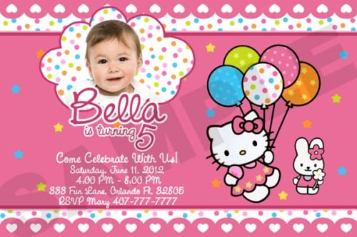 Hello Kitty Sample Birthday Invitations - birthday invitations sample