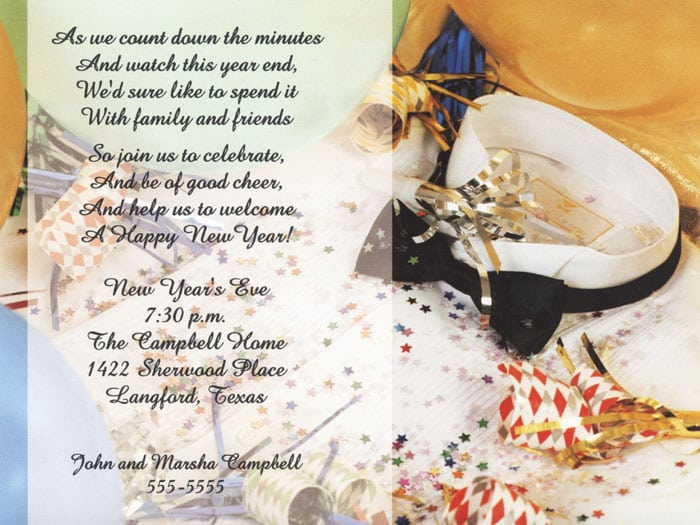 new years party invitation ideas - Eczasolinf - new years invitations templates