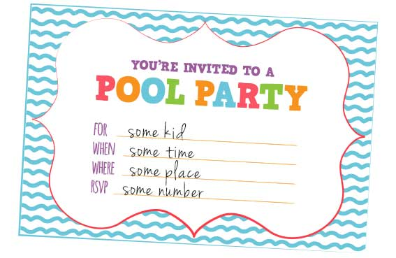 Free Pool Party Invitation Templates Download - free invitation templates for word