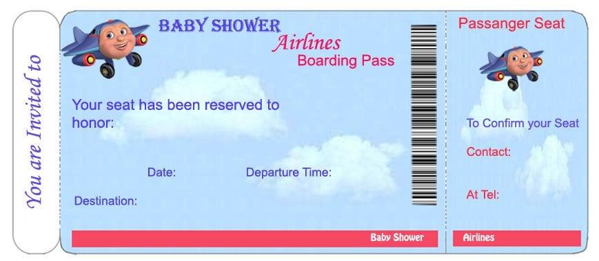 Printable Ticket Invitation Templates - airline ticket invitation