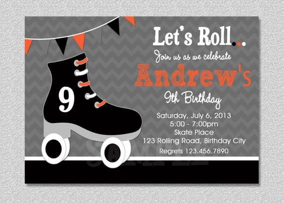 free printable roller skating party invitations - Forteeuforic