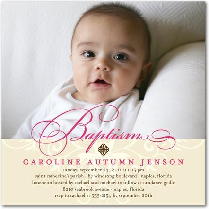 Precious Swirl Baptism Invitations - Invitation Crush