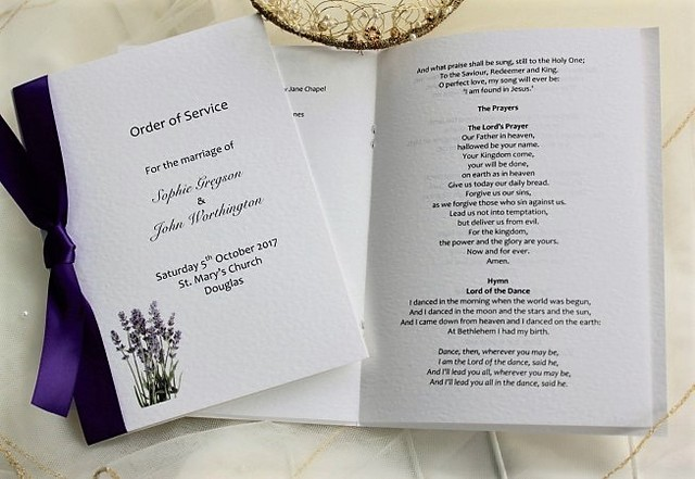 Wedding Order Of Service Order Of Service For Weddings