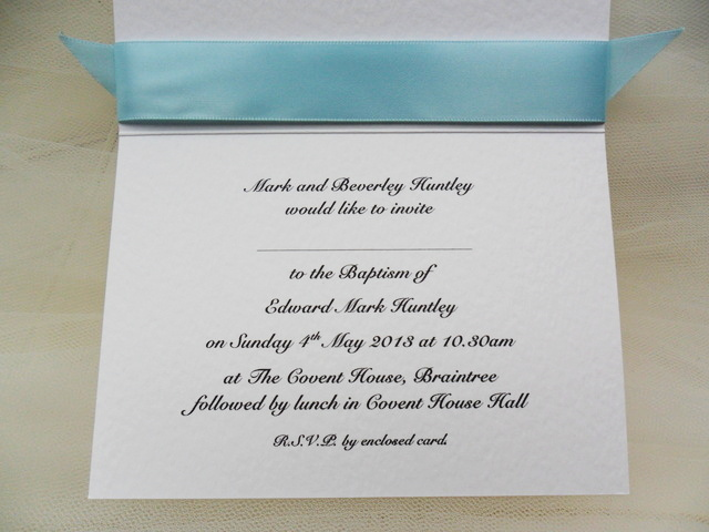 Top Ribbon Personalised Christening And Baptism