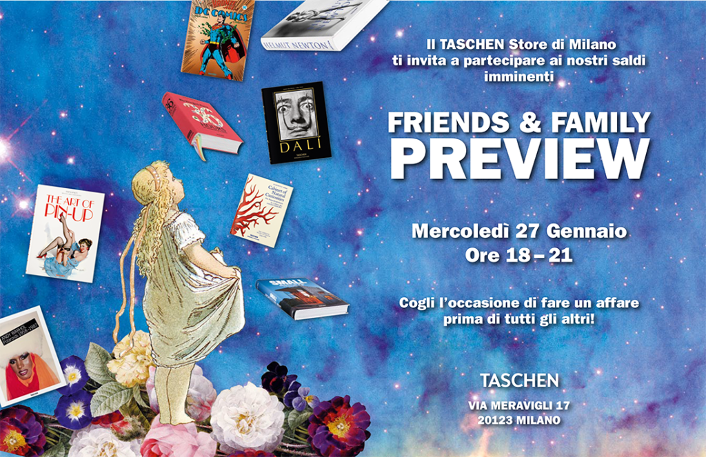 27.01 TASCHEN Winter Pre-Sale @ Store Milan -SOLD OUT
