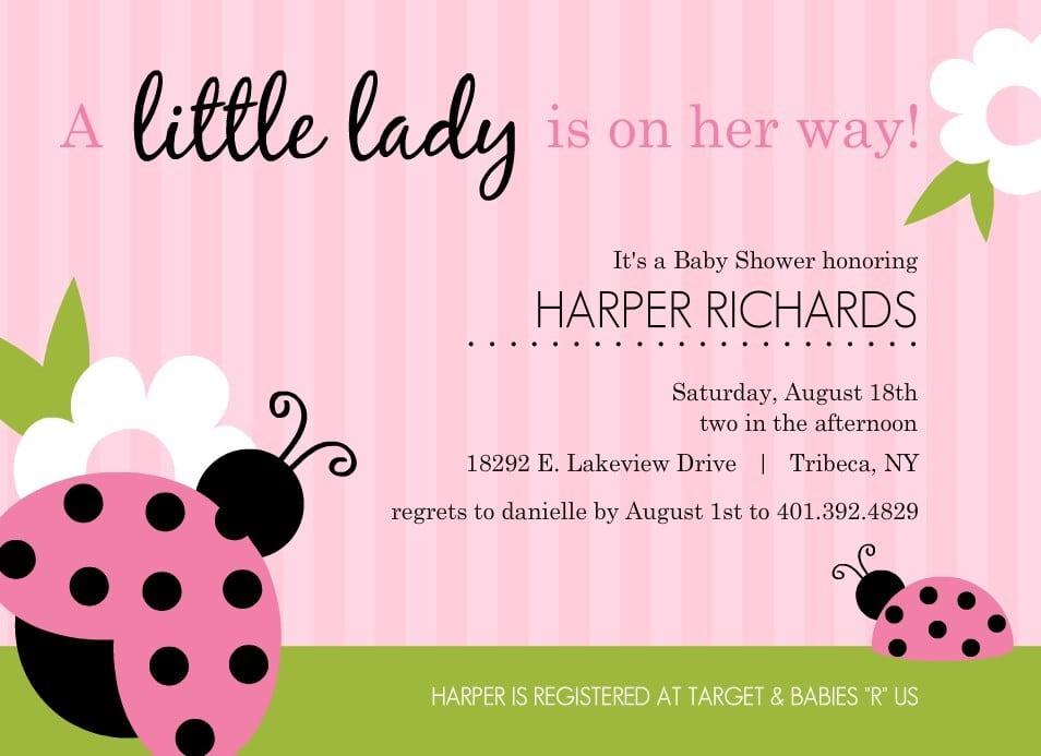 Baby Girl Shower Invitation Free Printables