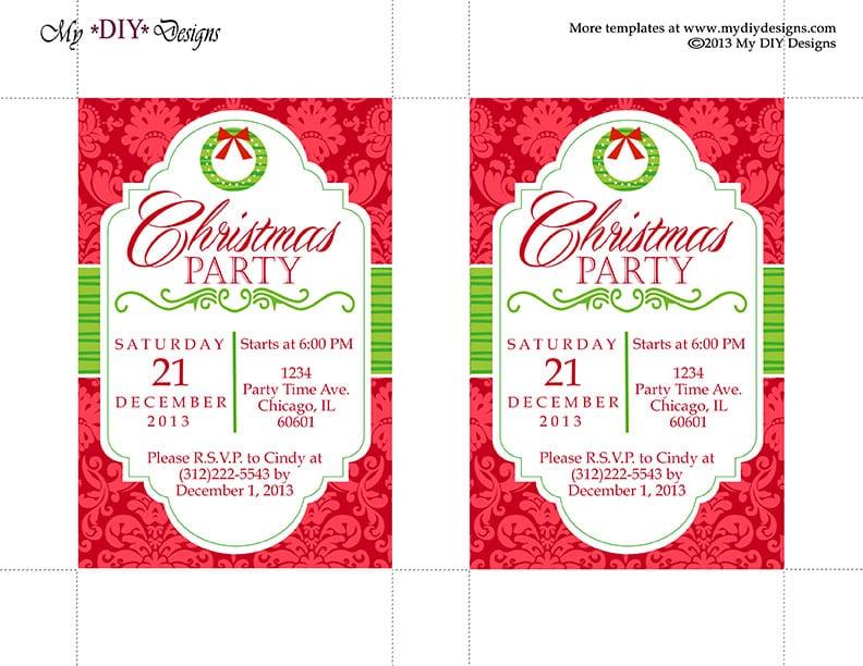 Christmas Invitation Template - invitation template publisher