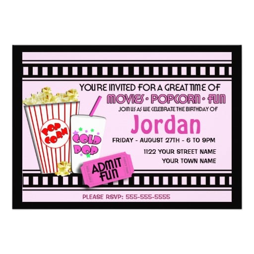 Free Movie Invitation Template purplemoon - movie invitation template free