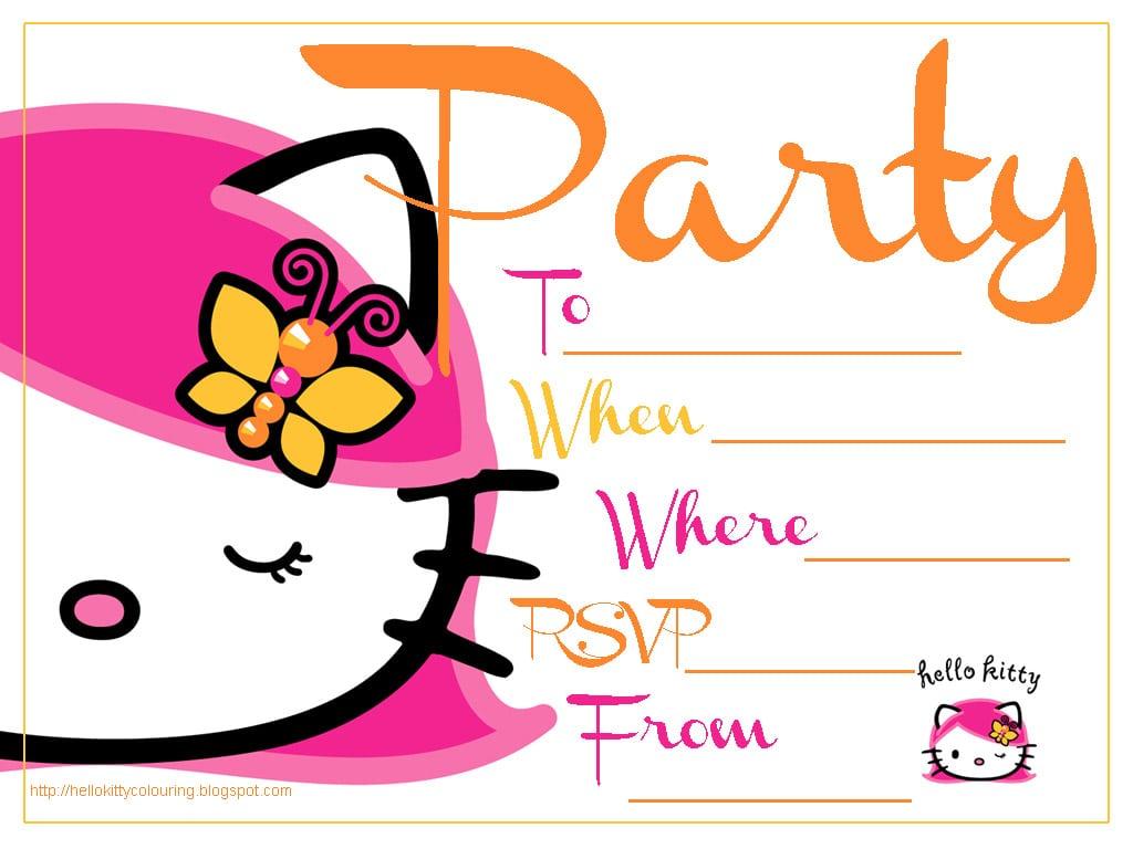Comfortable Hello Kitty Template Invitation Ivoiregion