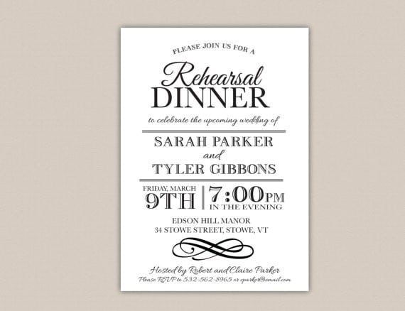 dinner invitation template free rehearsal dinner invitation free - free corporate invitation templates
