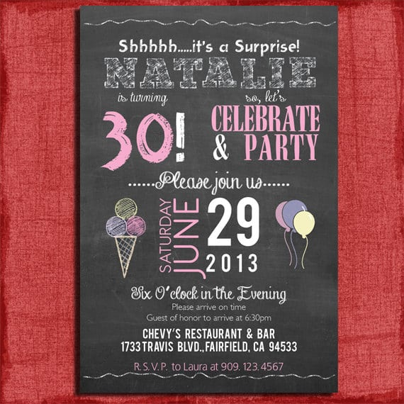 30Th Birthday Invitation Template Free Printable \u2013 orderecigsjuiceinfo