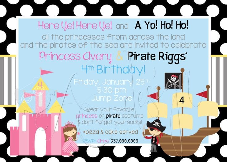 Comfortable pirate and princess party invitation free pirate and princess party invitation free orderecigsjuiceinfo filmwisefo