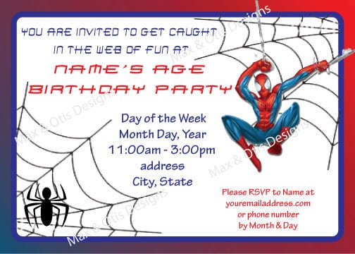 spiderman party invitations free printable 3slufsluidsprekers