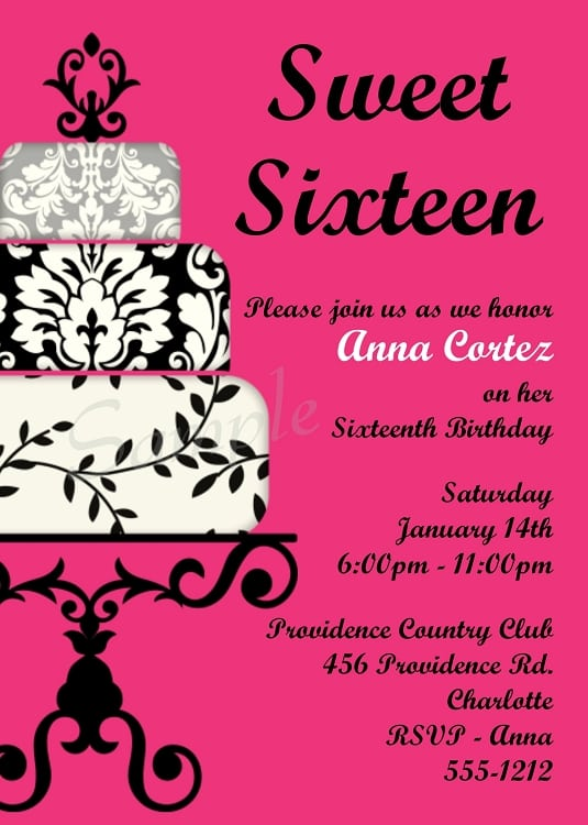 picture about Sweet 16 Birthday Invitations Free Printable known as Absolutely free Lovable 16 Invites - Anarchistshemale