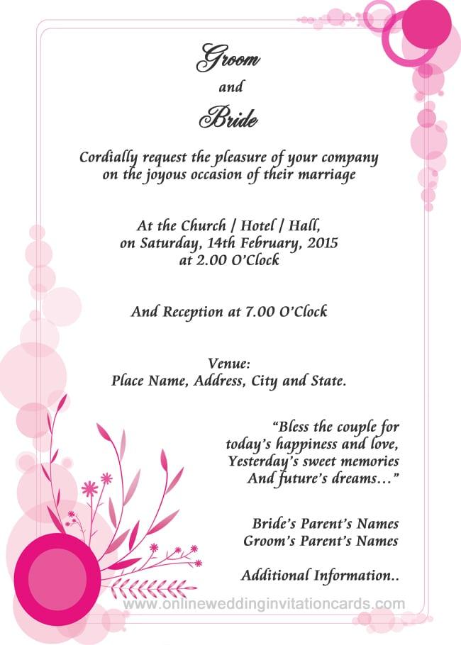 Wedding Invitation Formats - invitation formats
