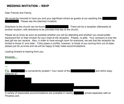 Emailed or texted wedding invitations \u2014 what do you think?