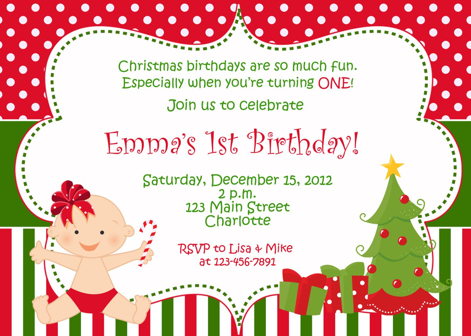Printable Kids Christmas Party Invitations