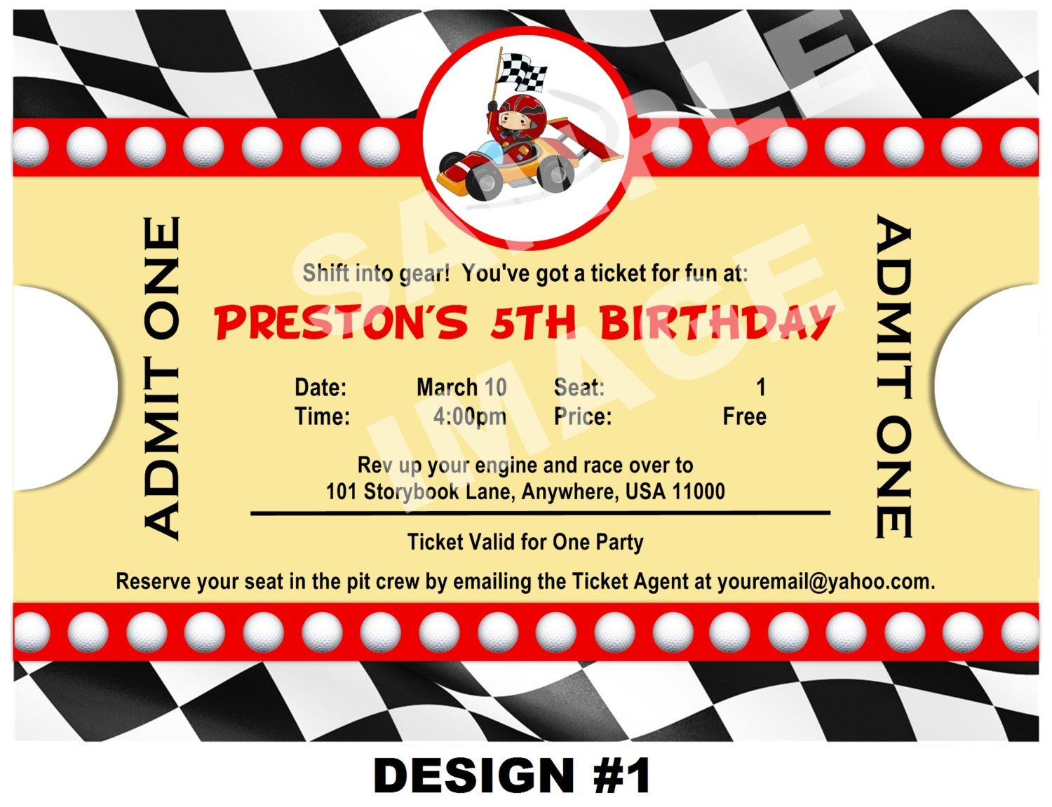 Free Printable Birthday Invitations Cars