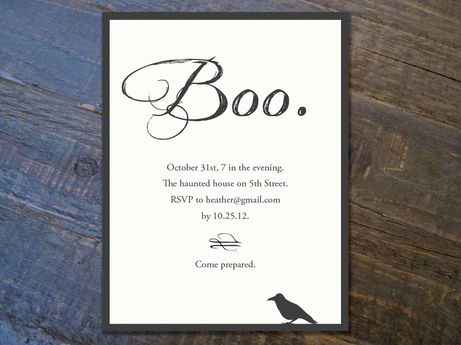 Halloween Printable Invitation Templates