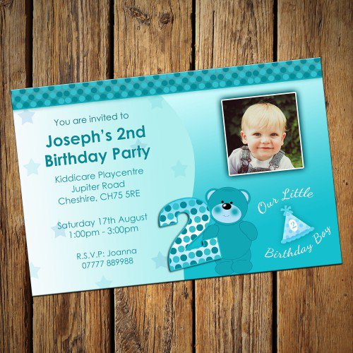 2nd Birthday Invitations For Boys