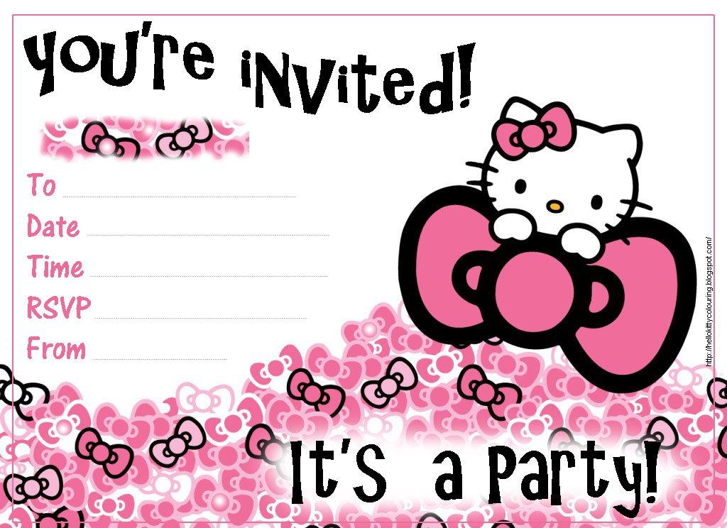 hello kitty first birthday invitations - Apmayssconstruction