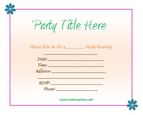 party invitation templates free download - Onwebioinnovate