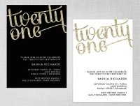 21st Birthday Invitations Templates