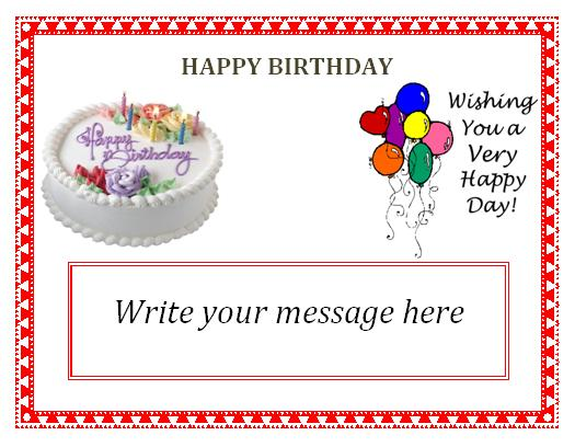 Invitations Free Editable Templates - free birthday card template word