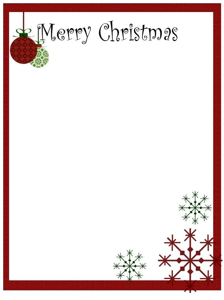 free christmas border for word - Onwebioinnovate - border templates word
