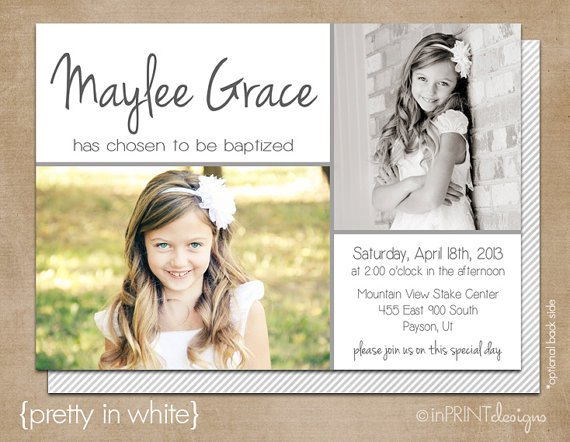 Lds Baptism Invitation Templates