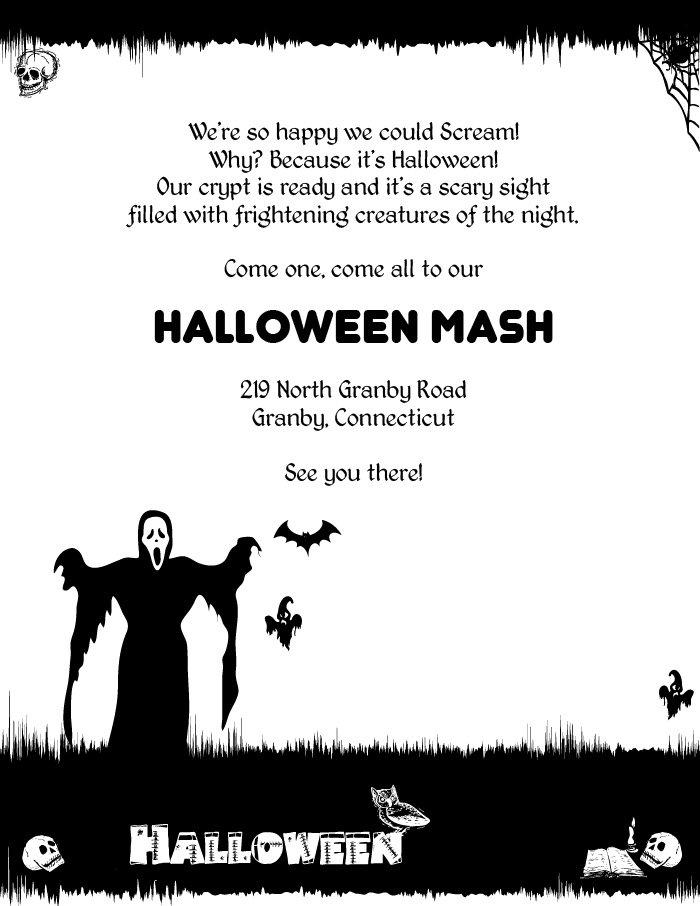 Spooky Halloween Invitation Templates - halloween invitation template