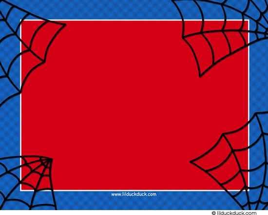 Spiderman Template Invitation Orderecigsjuiceinfo