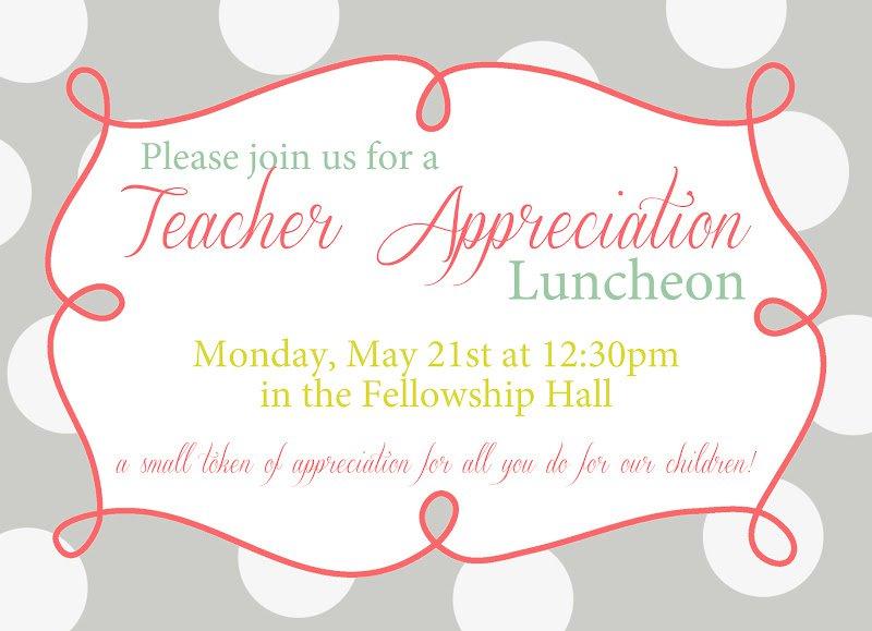 appreciation luncheon invitation wording