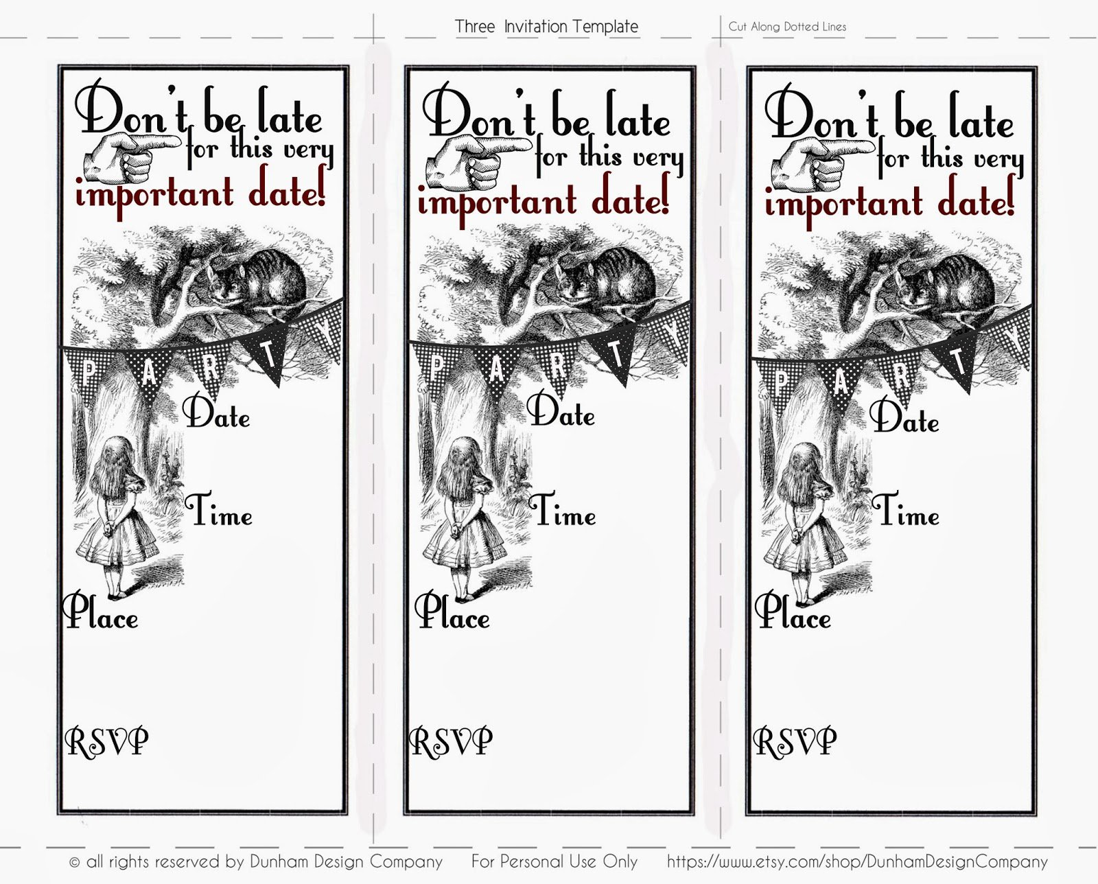 Invitation Alice In Wonderland Quotes