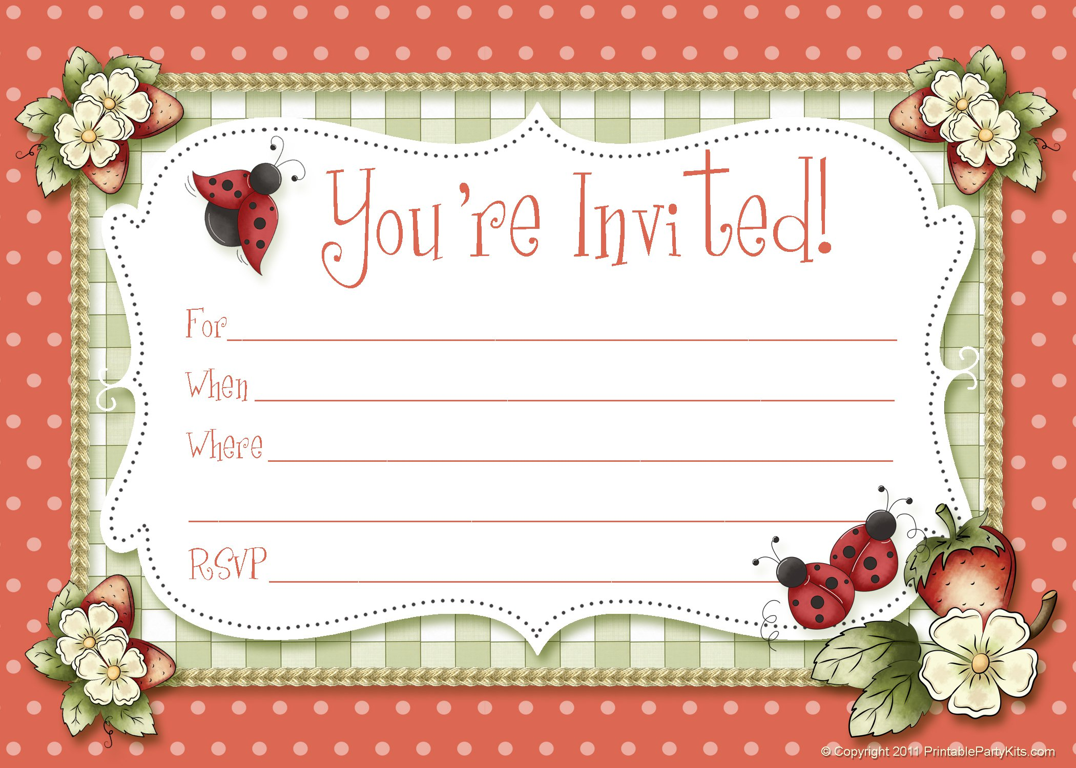 Holiday Dinner Invitation Blank