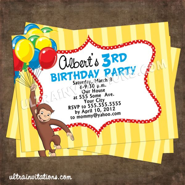 Free Curious George Invitations Menshealtharts