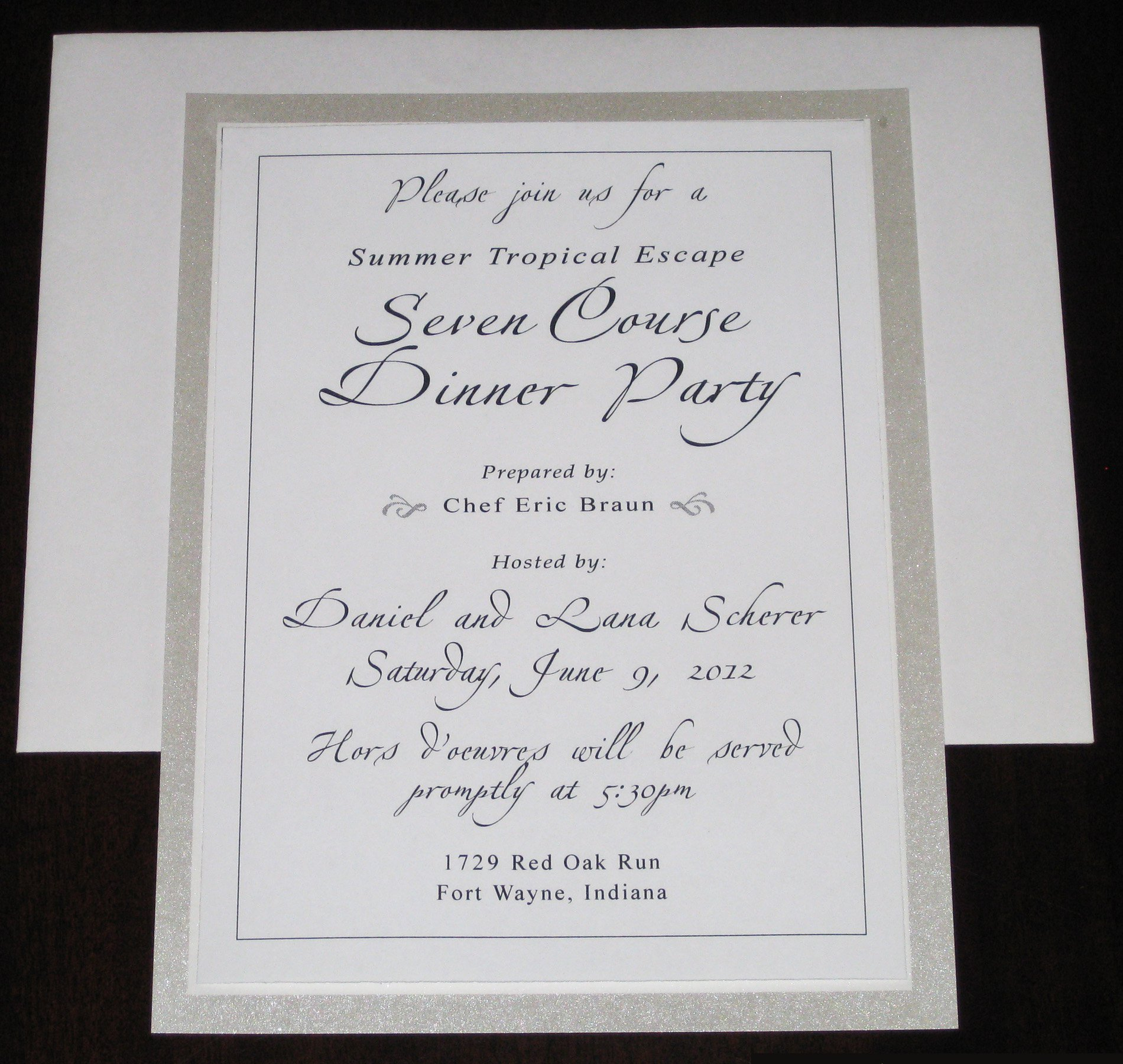 Formal Dinner Invitation Letter restaurant menu planning template ...
