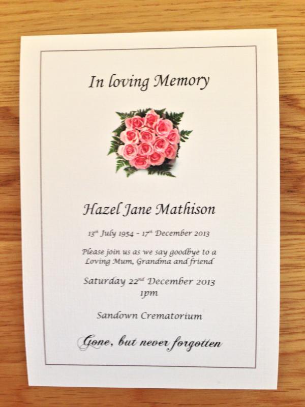 funeral invitations - thebridgesummit - funeral announcement sample