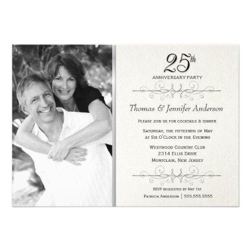 Surprise Wedding Anniversary Invitation Wording