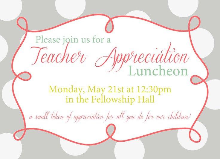 Volunteer Appreciation Lunch Invitation Templates